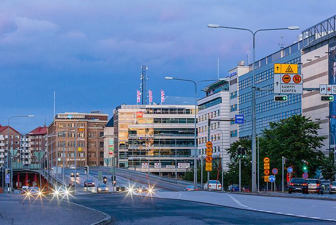 дорожное движение в Хельсинки