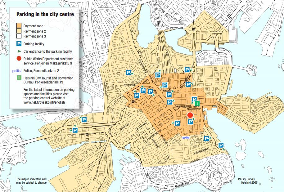 карта парковок Хельсинки