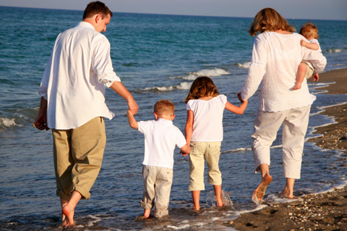 отдых семьей