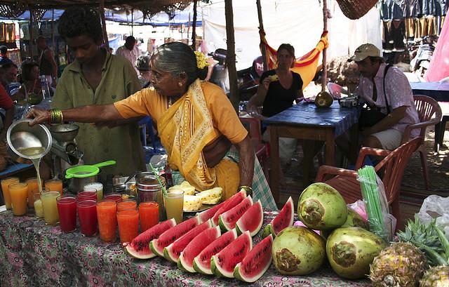 Рынок фруктов и напитков ГОА