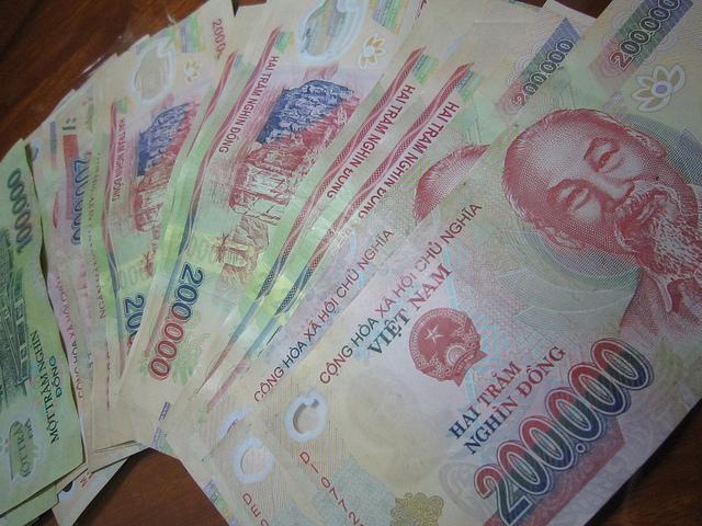 Деньги Вьетнам Хошимин